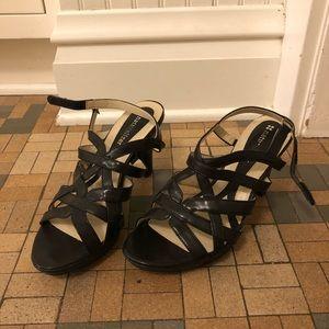 Naturalizer black strappy heels